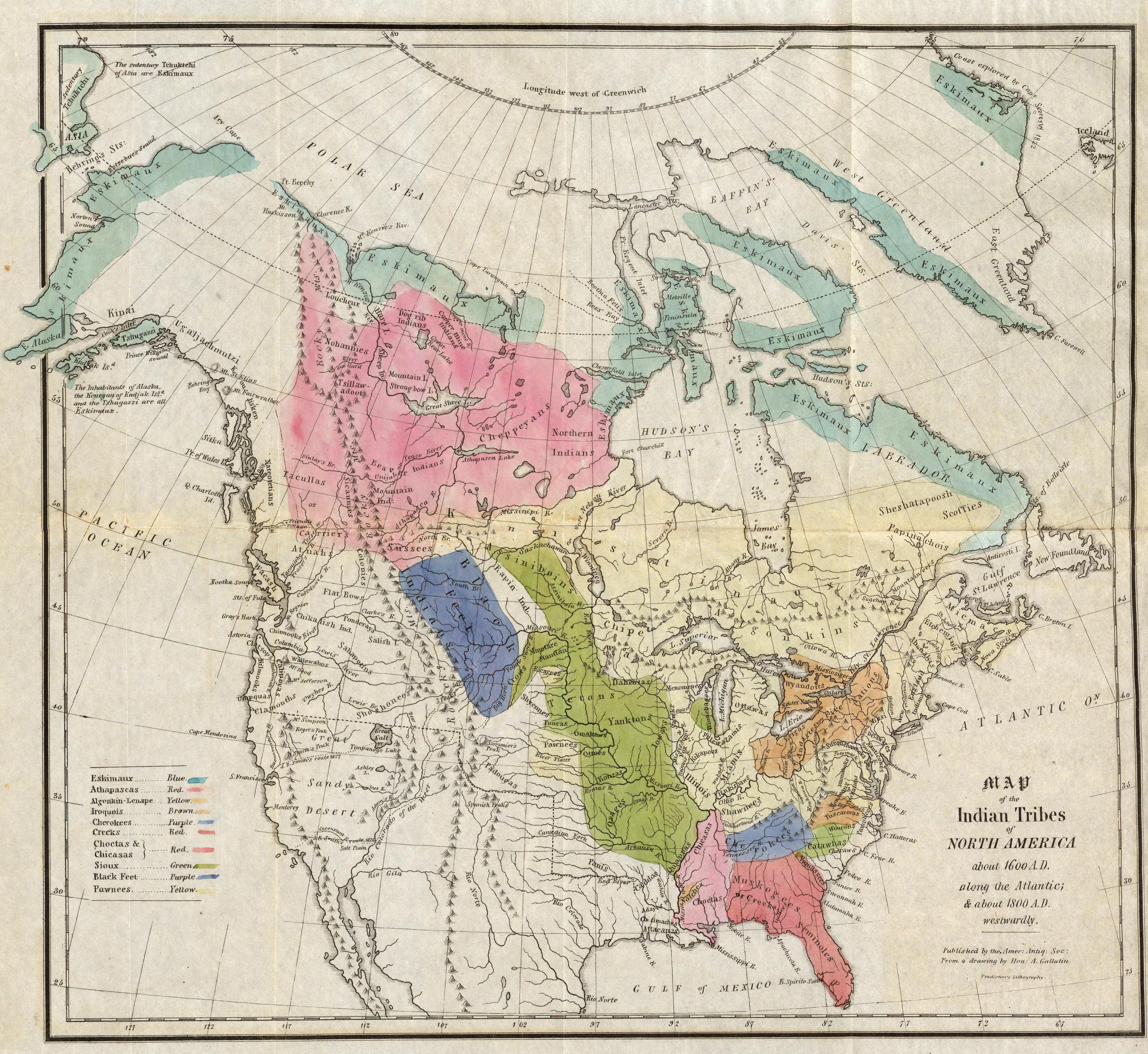 A Synopsis Of The Indian Tribes Within The United States East Of - Map of native american banks in us