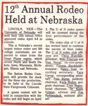 12th Annual Rodeo Held at Nebraska (c.1974)