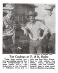 Top Cowboys at U. of N. Rodeo (1955)